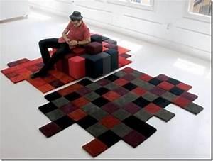 des pixels dans l39histoire de l39art du pop art aux With tapis shaggy avec ron arad canapé
