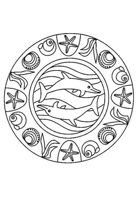 Kleurplaten Mandala Dolfijnen by Kleurplaat Dolfijnen Mandala 1 Kopen Zippytoys