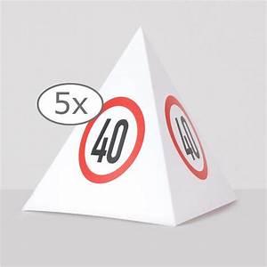 Tischdeko 40 Geburtstag : tischdeko verkehrsschild pyramide 40 geburtstag 13 5 cm 5er pack g nstig kaufen bei ~ Frokenaadalensverden.com Haus und Dekorationen