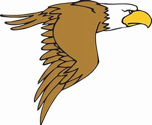 Flying Bald Eagle Cartoon Clip Art at Clker.com - vector ...