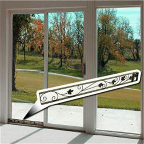 sliding glass patio door interior window for home security