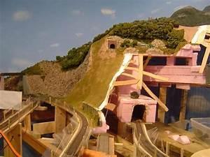 Model Train Mountain Scenary