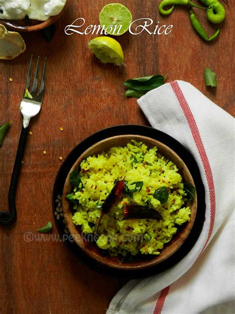 spicy south indian lemon rice recipe easy recipes