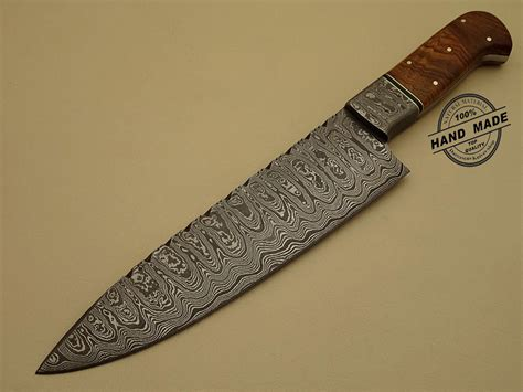 Professional Damascus Kitchen Chef's Knife Custom Handmade