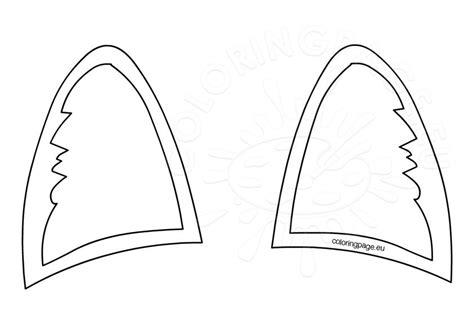 Template For Ears by Cat Ear Headband Pattern