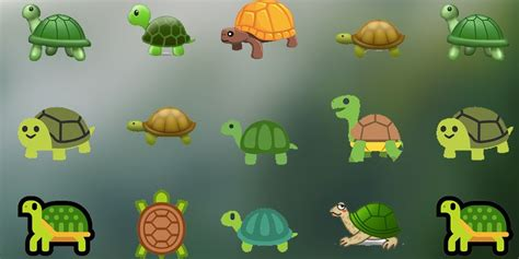 kind  turtle emoji ranked