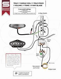 Telecaster Humbucker In Neck 4 Way Switch Wiring Diagram