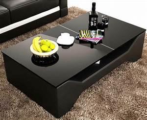 Table Basse Noire Design : deco in paris 0 table basse design noir celia celia noir tabl basse ~ Teatrodelosmanantiales.com Idées de Décoration