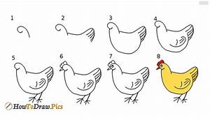 How To Draw Hen Howtodrawpics