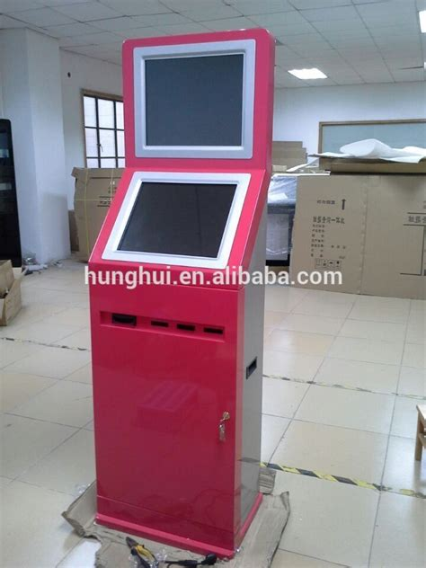 dual touch monitor automatic ticket  sim card vending