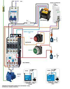 single phase motor contactor wiring diagram elec eng world w t htay pinterest diagram