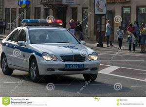 Russian Police Car Emergency Editorial Stock Photo - Image ...