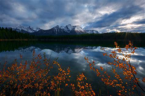herbert lake banff national park alberta canada adam