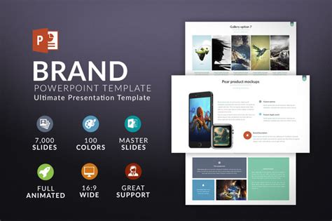 brand summary template brand powerpoint template presentation templates on