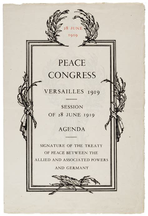 Treaty Of Versailles And President Wilson 1919 And 1921