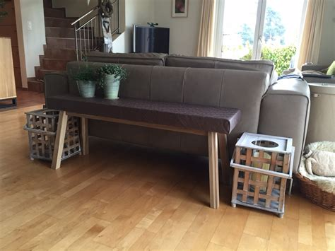craft room table ideas ikea skogsta from bench to narrow console table ikea