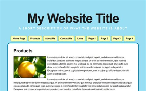 basic html page template 4 best images of basic web page layout simple html web page exle web design page layout