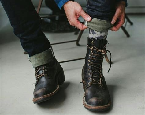 Top Men Military Style Boots Fashion Runway