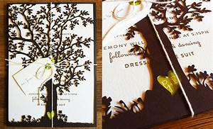 jaw dropping laser cut tree wedding invitations With wedding cards with trees