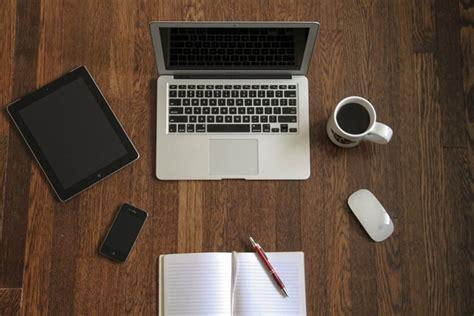 macbook laptop  devices  accessories  wooden desk