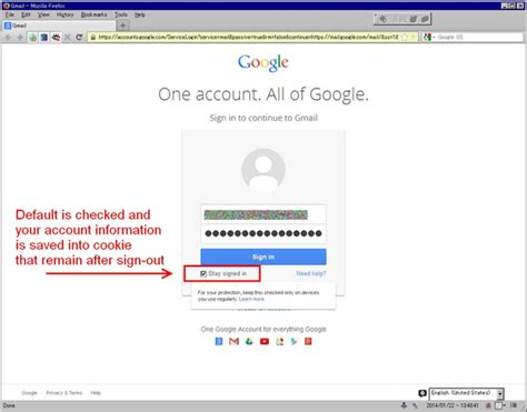 remove cookie  google account chooser