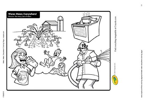 water conservation kids coloring pages sketch coloring