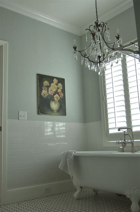 Bathroom Paint Colors With White Tile by Wall Color Subway Tile Chandy And Vintage Painting