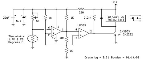 How Build Electronic Thermostat Relay Circuit