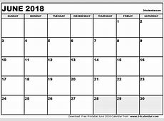 June Month 2018 Calendar Image Free Indo Templates