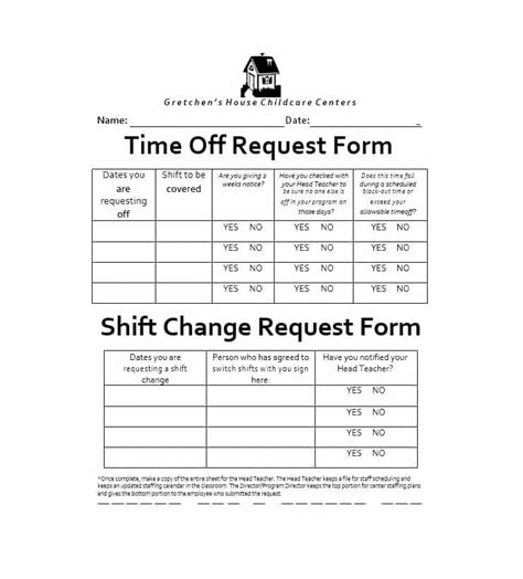 Time Off Request Policy Template by 40 Effective Time Off Request Forms Templates