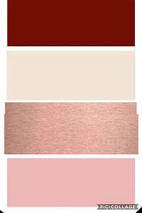 Burgundy, ivory, rose gold, and Blush wedding color swatch ...