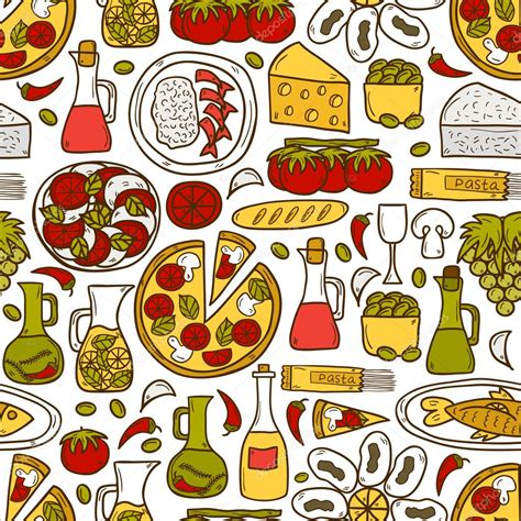 cuisine concept 2000 seamless background with objects