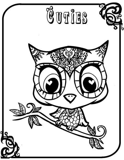 owls coloring pages getcoloringpagescom