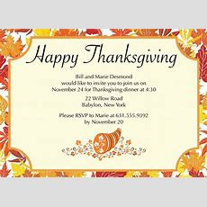Thanksgiving Invitations  Thanksgiving Wikii