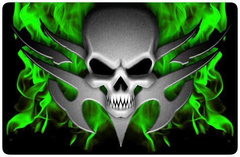 Scary Halloween Wallpapers Free Free Flaming Skull Wallpaper Wallpapersafari