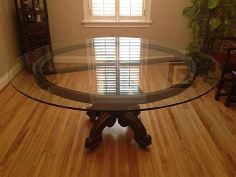 large round glass dining room table » Dining room decor