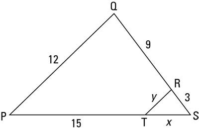 how to solve similar triangle problems with the side