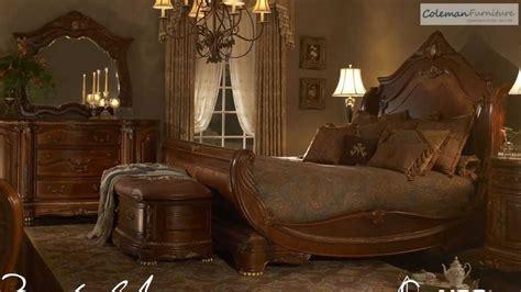 cortina sleigh bedroom collection  aico furniture