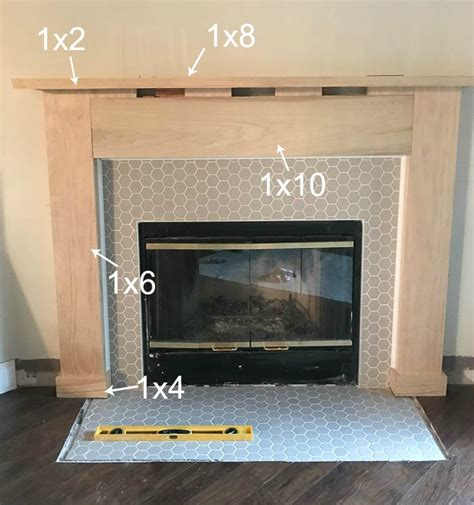 fireplace makeover   build  fireplace mantel