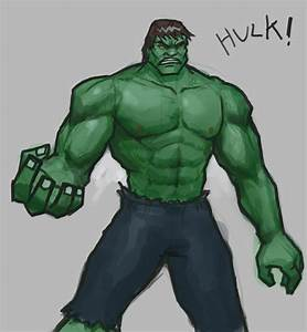 How to draw Hulk - drawing and digital painting tutorials ...