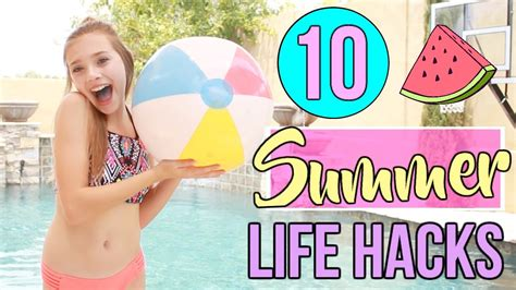 10 Summer Life Hacks Everyone Needs To Know! Youtube