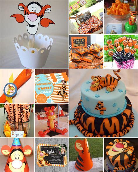 Tigger Birthday Cake Template by Tigger Theme Party