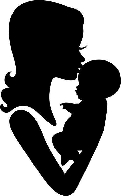 12 idées de DESSINS LA MERE &L'ENFANT   silhouette bébé