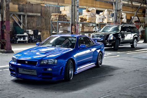 blue nissan skyline fast and furious 2002 nissan skyline gt r r34 the fast and the furious