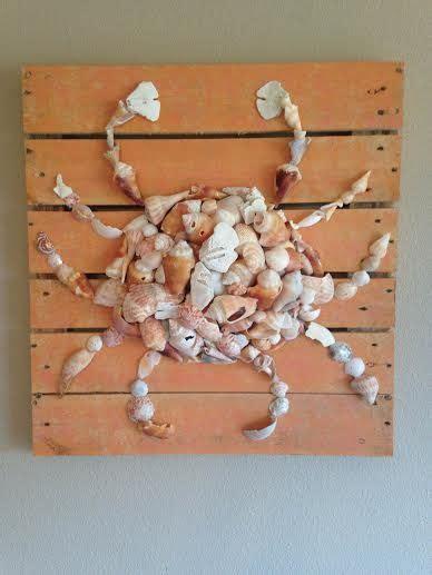 crab   broken seashells   distressed