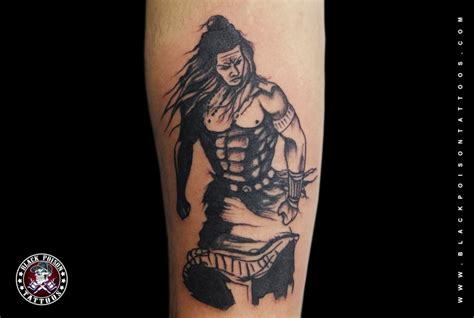 angry lord shiva tattoo black poison tattoo studio
