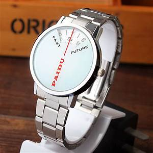 Paidu Simple Design White Quartz Stainless Steel Band ...
