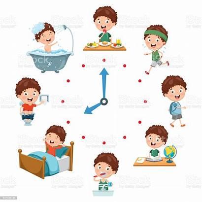 Routine Daily Activities Vector Illustration Activity Turkey