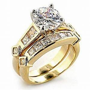 round solitaire channel princess cubic zirconia engagement With cubic zirconia wedding ring sets