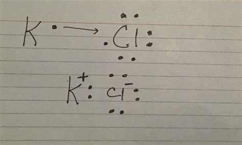 Kcl Dot Diagram what is the formation of kcl with an electron dot
